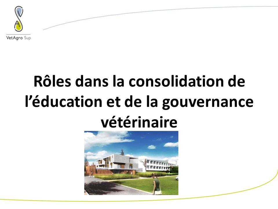 Rôles dans la consolidation de léducation et de la gouvernance vétérinaire