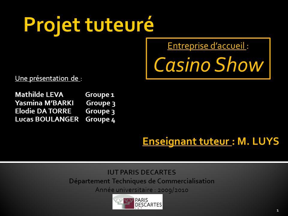 Une présentation de : Mathilde LEVA Groupe 1 Yasmina MBARKI Groupe 3 Elodie DA TORRE Groupe 3 Lucas BOULANGER Groupe 4 IUT PARIS DECARTES Département