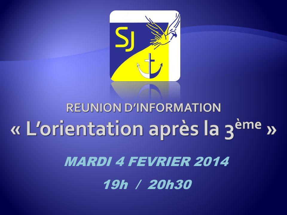 MARDI 4 FEVRIER 2014 19h / 20h30