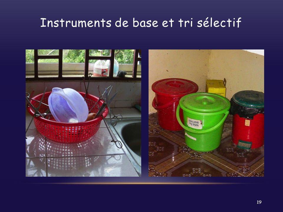 Instruments de base et tri sélectif 19
