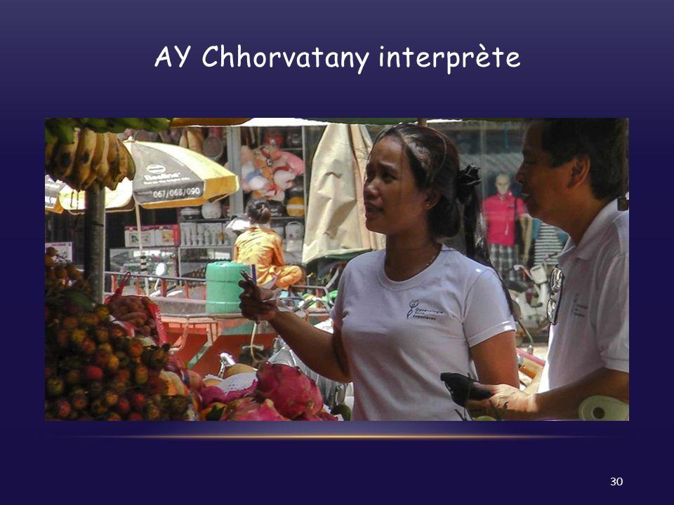 AY Chhorvatany interprète 30