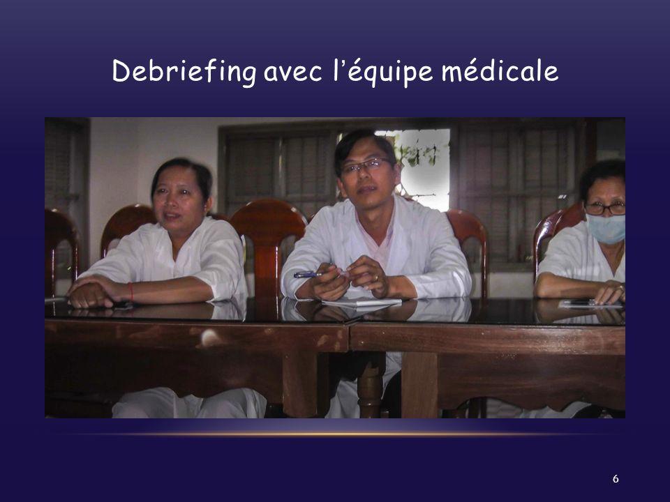 Debriefing avec léquipe médicale 6