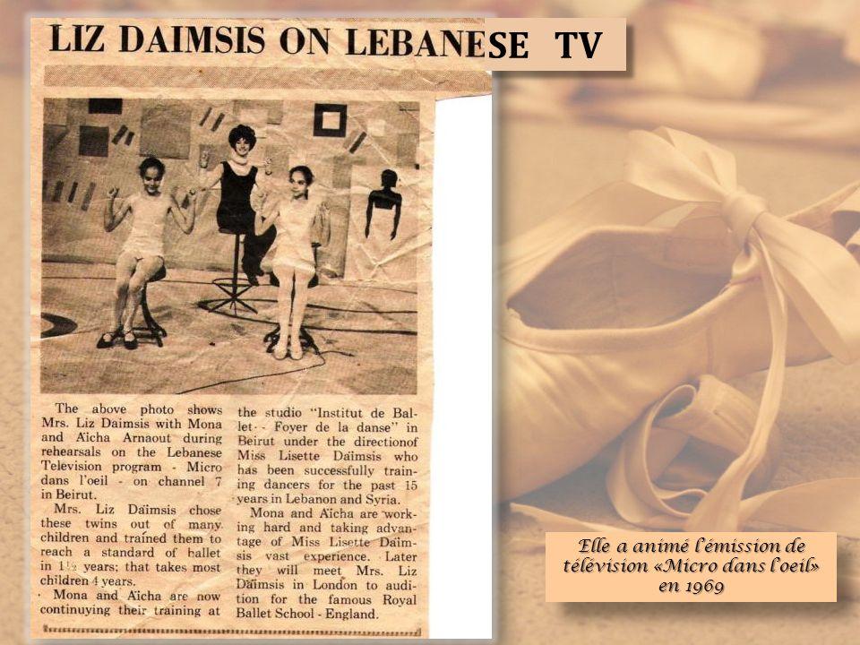 Elle a animé lémission de télévision «Micro dans loeil» en 1969 SE TV