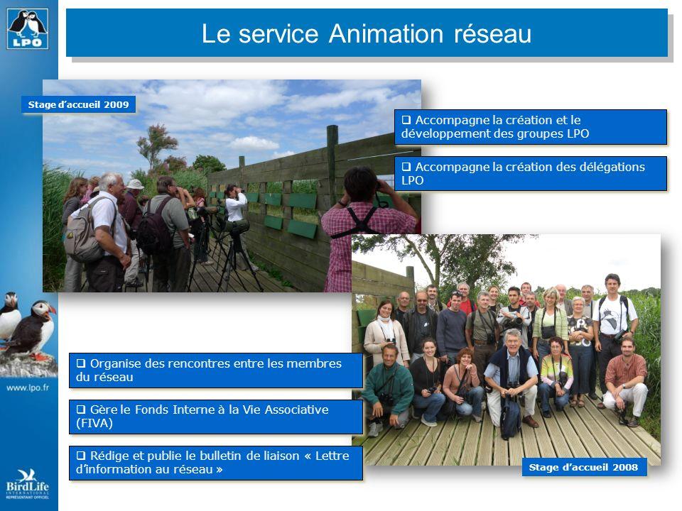 Les principales missions du service réseau LPO Accompagne la création et le développement des groupes LPO Accompagne la création des délégations LPO G