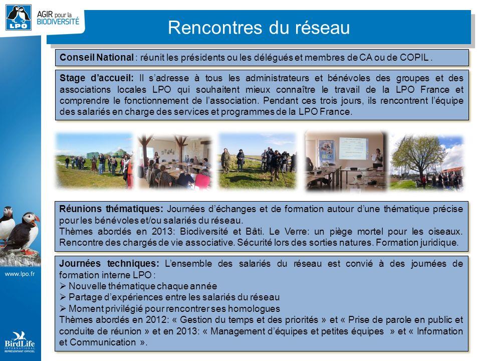 Rencontres du réseau Stage daccueil: Il sadresse à tous les administrateurs et bénévoles des groupes et des associations locales LPO qui souhaitent mieux connaître le travail de la LPO France et comprendre le fonctionnement de lassociation.