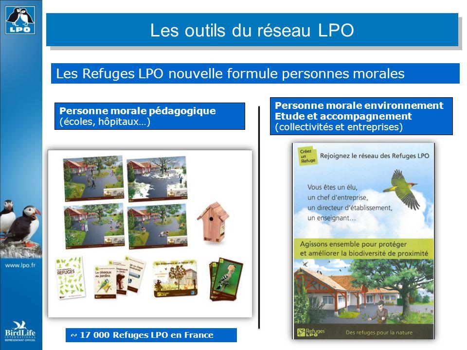 Les Refuges LPO nouvelle formule personnes morales Personne morale pédagogique (écoles, hôpitaux…) Personne morale environnement Etude et accompagneme