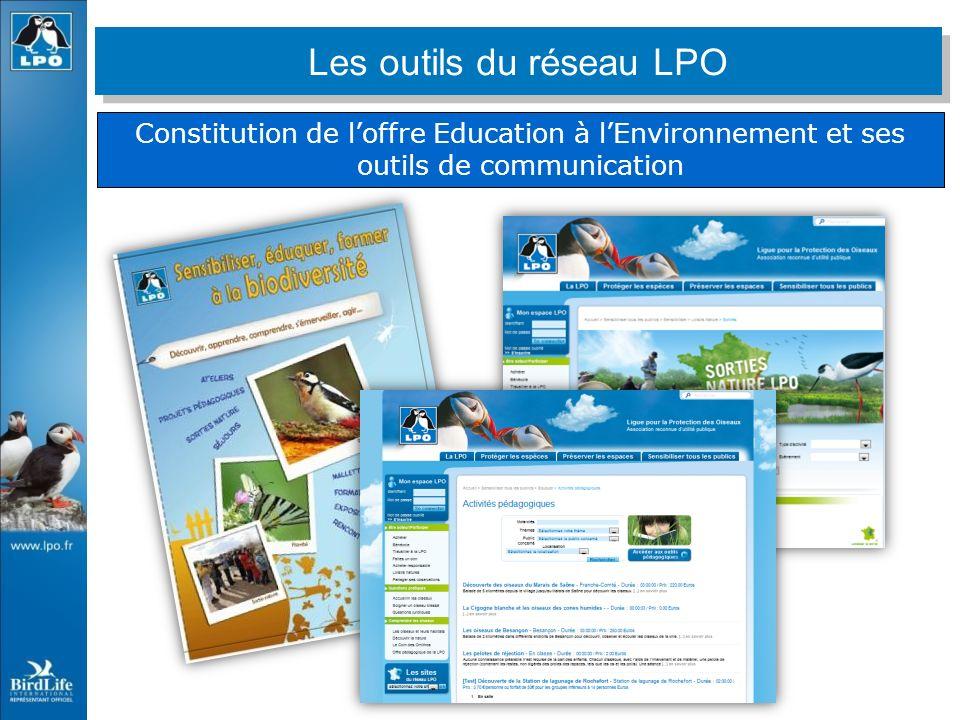 Constitution de loffre Education à lEnvironnement et ses outils de communication Les outils du réseau LPO