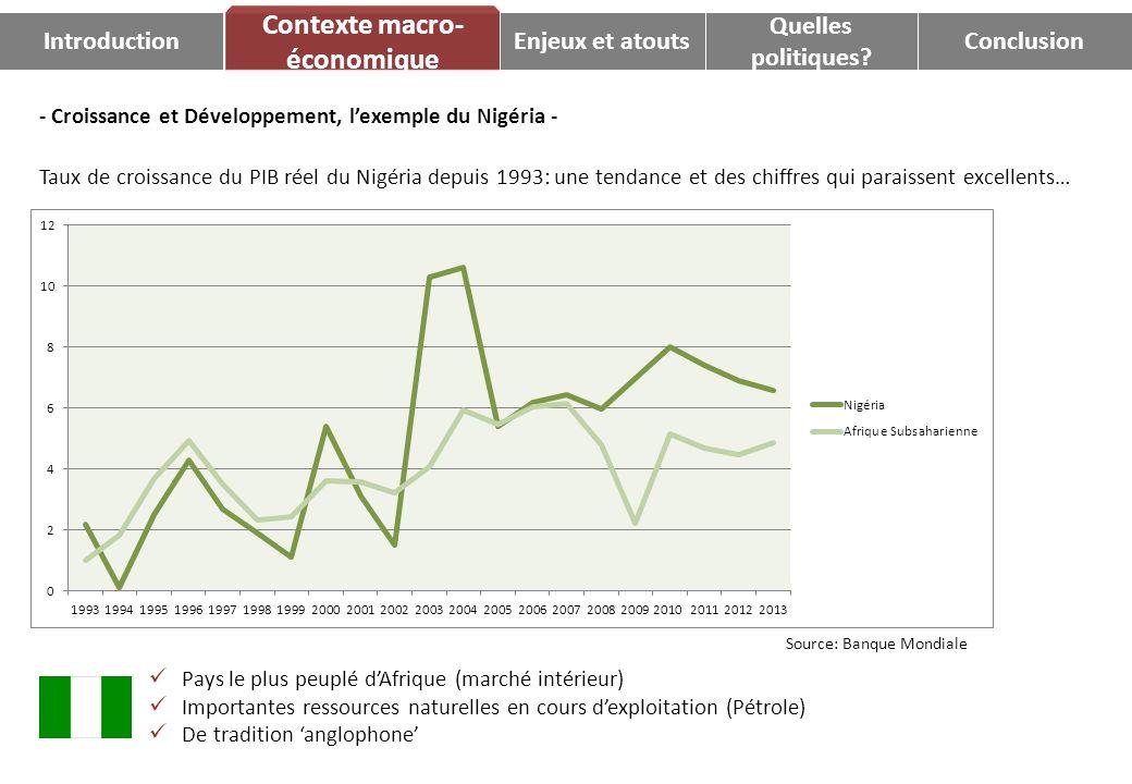 - Croissance et Développement, lexemple du Nigéria - Taux de croissance du PIB réel du Nigéria depuis 1993: une tendance et des chiffres qui paraissen