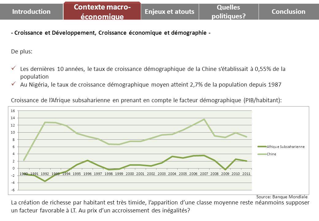 - Croissance et Développement, Croissance économique et démographie - De plus: Les dernières 10 années, le taux de croissance démographique de la Chin