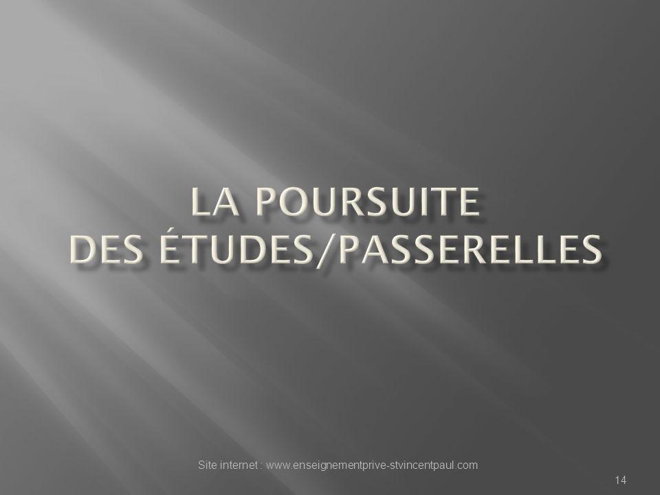 Site internet : www.enseignementprive-stvincentpaul.com 14