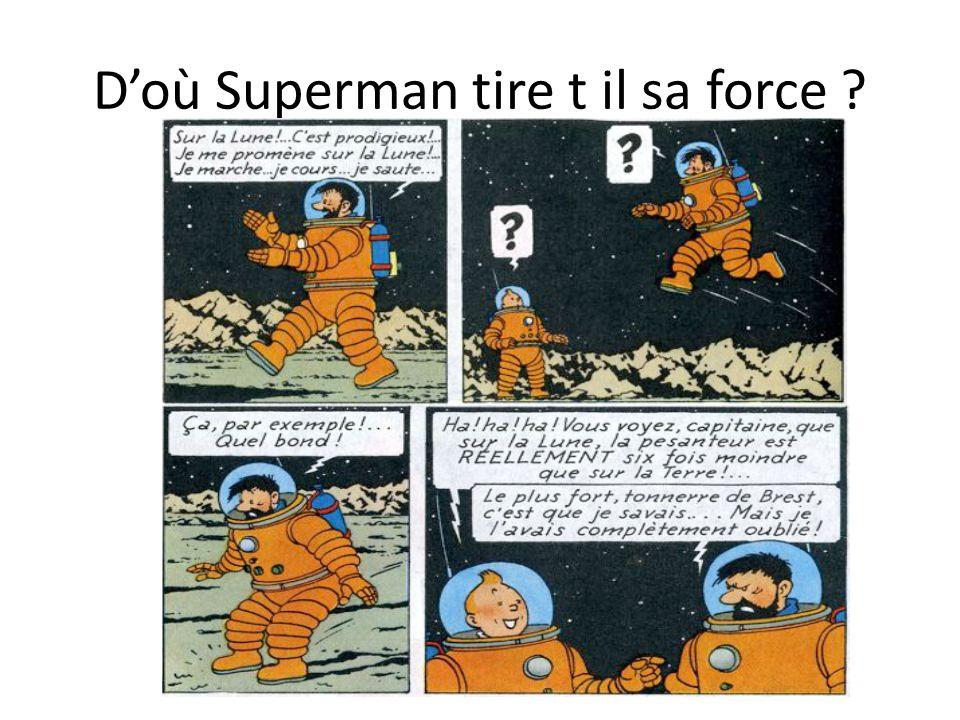 Doù Superman tire t il sa force ?