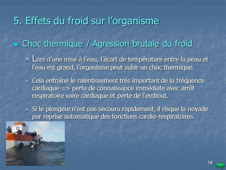 1717 Signes du refroidissement Hypothermie faible Hypothermie modérée Hypothermie grave 36° C < T° <37° C 33° C < T° < 35° C, T° < 32° C Chair de poul