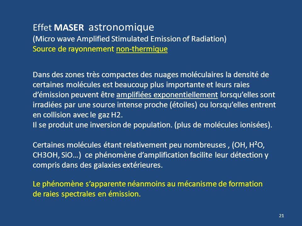 20 Transitions hyperfine par Inversion du spin : Les atomes et les molécules ont identifiables par leur spectre électromagnétique en émission ou en ab