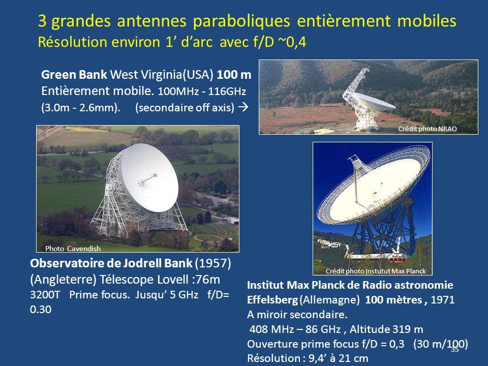 34 ARECIBO Porto Rico Le plus grand Antenne sphérique fixe en panneaux daluminium de 305 m diamètre construite dans un effondrement naturel. Récepteur