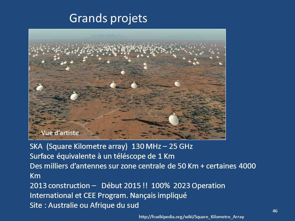 45 ALMA Atacama Large Millimeter Array En service 3 octobre 2011 – 22 antennes en service © Alma / Esp/Naoj/Nrao Sonder lUnivers lointain Dynamique de