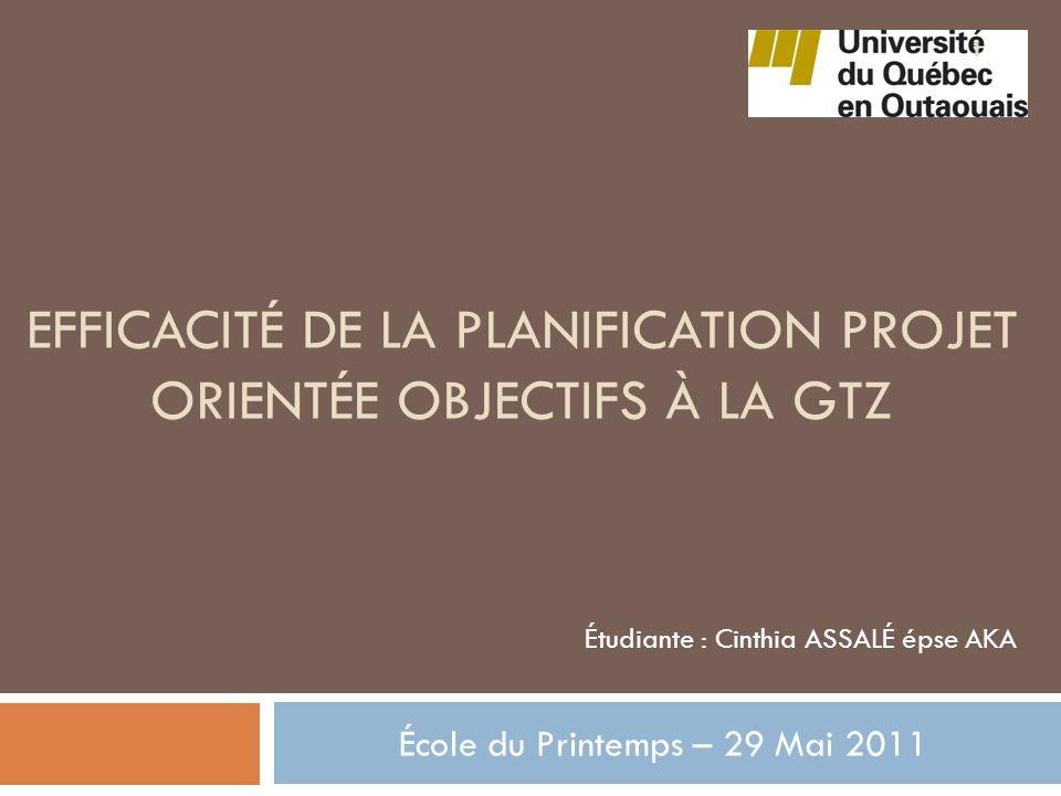 Sommaire Introduction Planification projet orientée objectifs à la GTZ Présentation Spécificité Fonctionnement Efficacité de la PPOO à la GTZ Lien avec la GAR Limites et conclusion 2