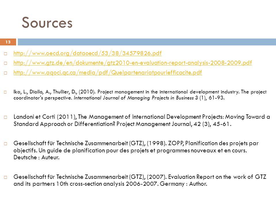 Sources http://www.oecd.org/dataoecd/53/38/34579826.pdf http://www.gtz.de/en/dokumente/gtz2010-en-evaluation-report-analysis-2008-2009.pdf http://www.