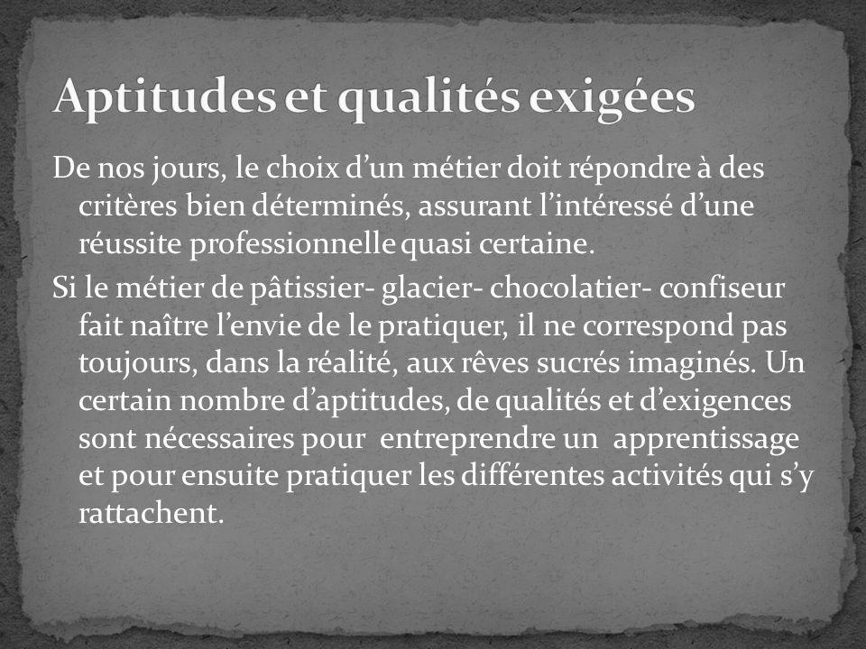 De nos jours, le choix dun métier doit répondre à des critères bien déterminés, assurant lintéressé dune réussite professionnelle quasi certaine. Si l