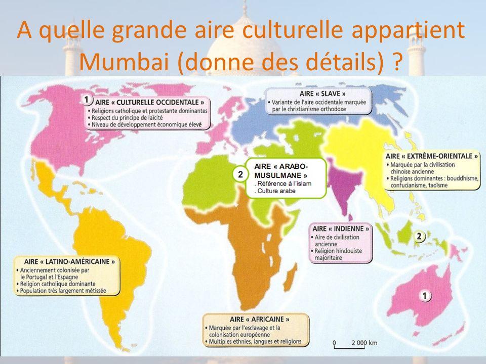 Quel est le niveau de développement de Mumbai (ou de lInde de manière générale) ?