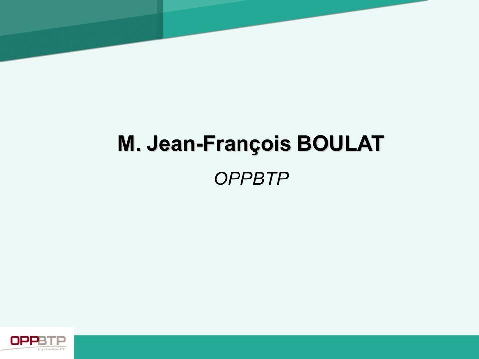 M. Jean-François BOULAT OPPBTP