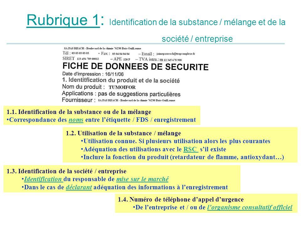 Rubrique 1 : Identification de la substance / mélange et de la société / entreprise 1.3. Identification de la société / entreprise Identification du r