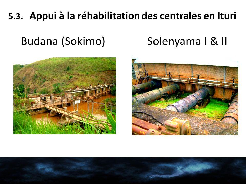 5.3. Appui à la réhabilitation des centrales en Ituri Budana (Sokimo) Solenyama I & II