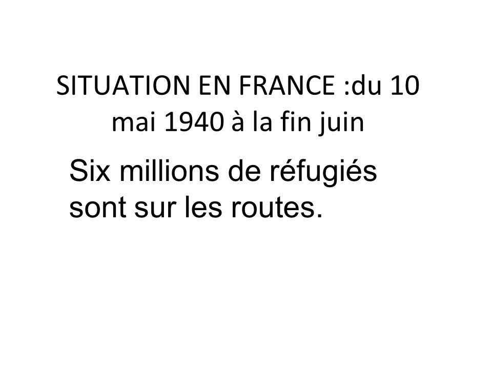 Le 17 juin, le nouveau président du Conseil, le maréchal Pétain, demande l´armistice qui est signé le 22 juin 1940.