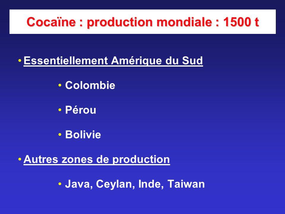 Zones de production mondiale : A.