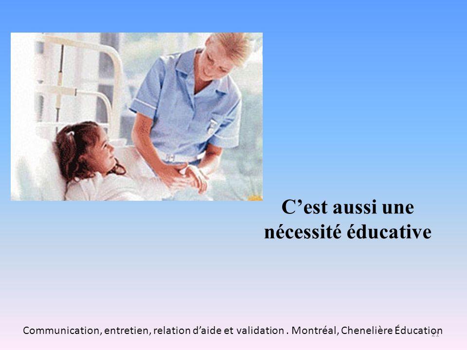En raison de la dépersonnalisation des milieux de soins Dans les centres de soins, il y a une prédominance des savoirs et des savoir-faire techniques et organisationnels.