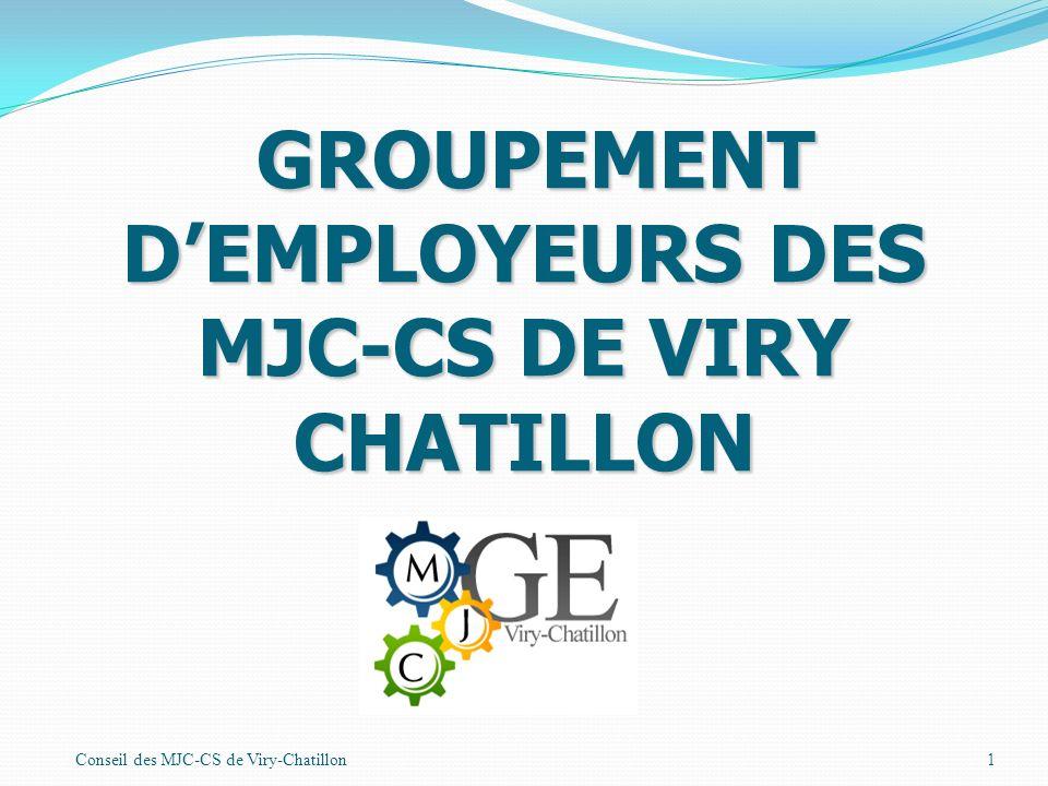 Conseil des MJC-CS de Viry-Chatillon1 GROUPEMENT DEMPLOYEURS DES MJC-CS DE VIRY CHATILLON GROUPEMENT DEMPLOYEURS DES MJC-CS DE VIRY CHATILLON