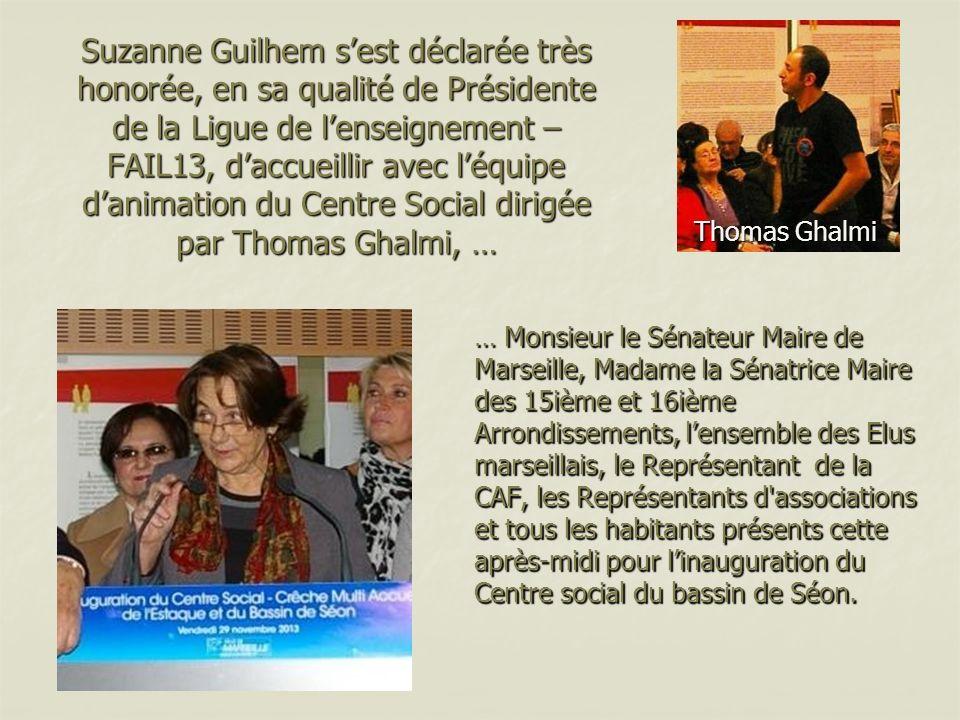 Suzanne Guilhem sest déclarée très honorée, en sa qualité de Présidente de la Ligue de lenseignement – FAIL13, daccueillir avec léquipe danimation du