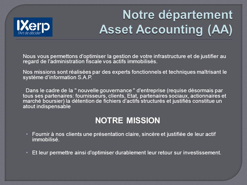 Notre offre « Gestion des actifs sur S.A.P »