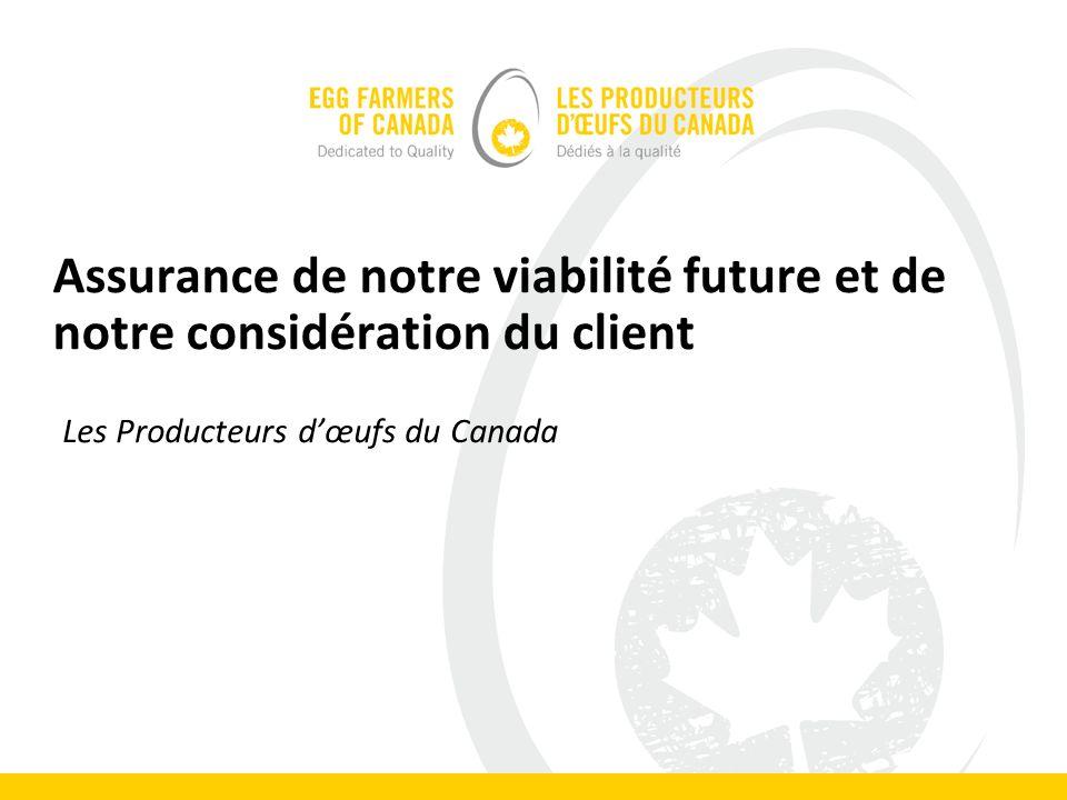 Assurance de notre viabilité future et de notre considération du client Les Producteurs dœufs du Canada