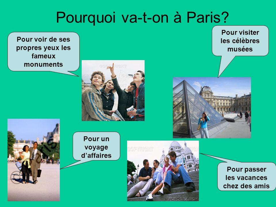 Pourquoi va-t-on à Paris.