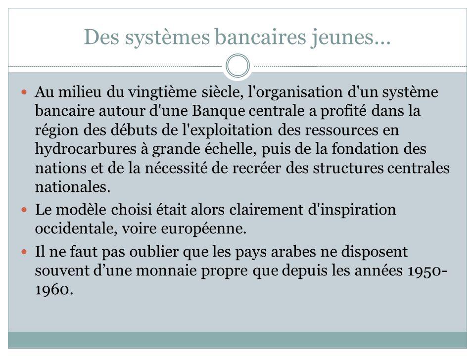 Une ouverture progressive Les systèmes bancaires et financiers arabe en général (conventionnel + islamique) souvrent petit à petit, mais on peut regretter encore la faible place des banques étrangères et limportance du secteur public.