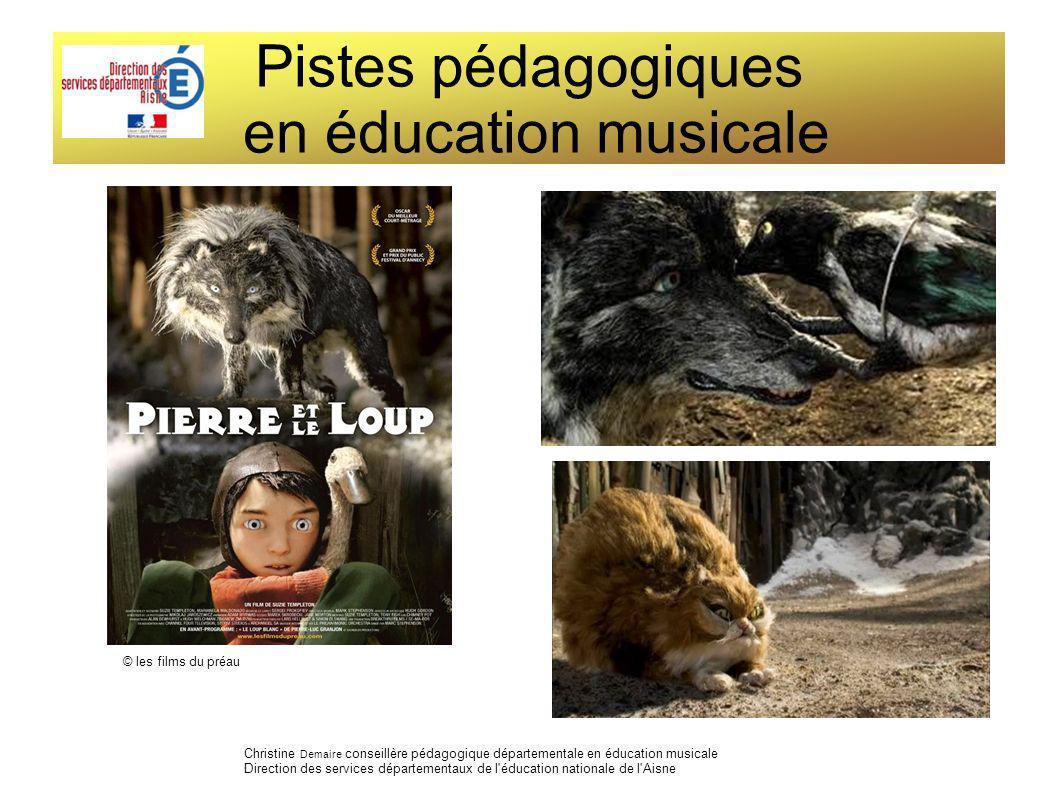 Pistes pédagogiques en éducation musicale Christine Demaire conseillère pédagogique départementale en éducation musicale Direction des services départ