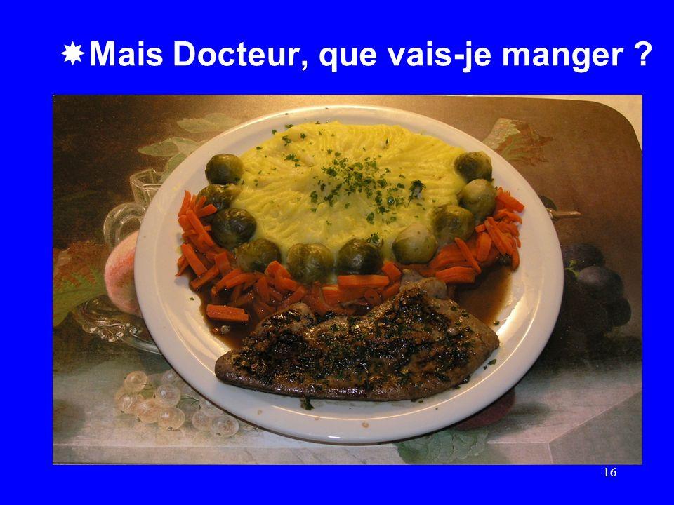 Mais Docteur, que vais-je manger ? 16