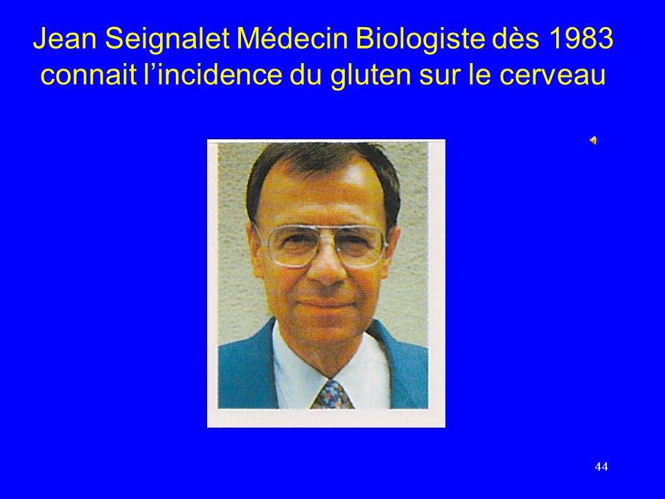 Jean Seignalet Médecin Biologiste dès 1983 connait lincidence du gluten sur le cerveau 44