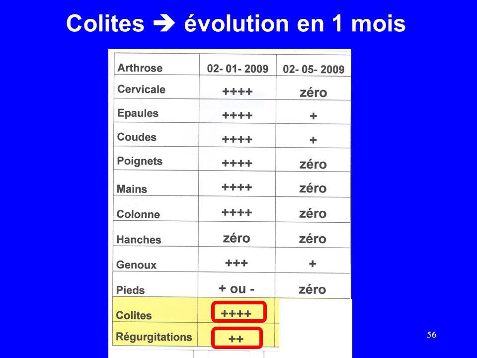 Colites évolution en 1 mois 56