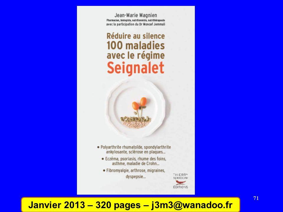 71 Janvier 2013 – 320 pages – j3m3@wanadoo.fr
