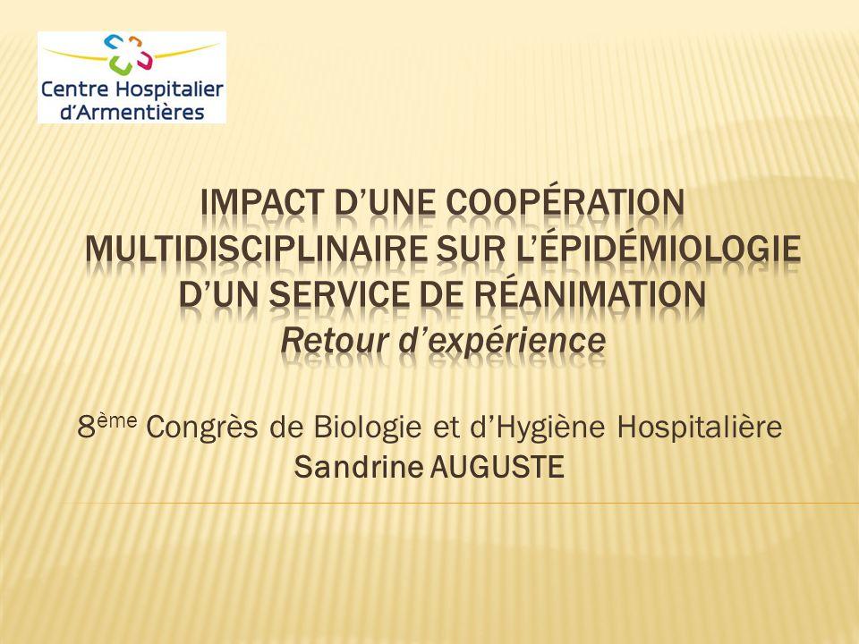 8 ème Congrès de Biologie et dHygiène Hospitalière Sandrine AUGUSTE