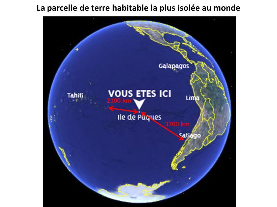 La parcelle de terre habitable la plus isolée au monde 3700 km 2100 km