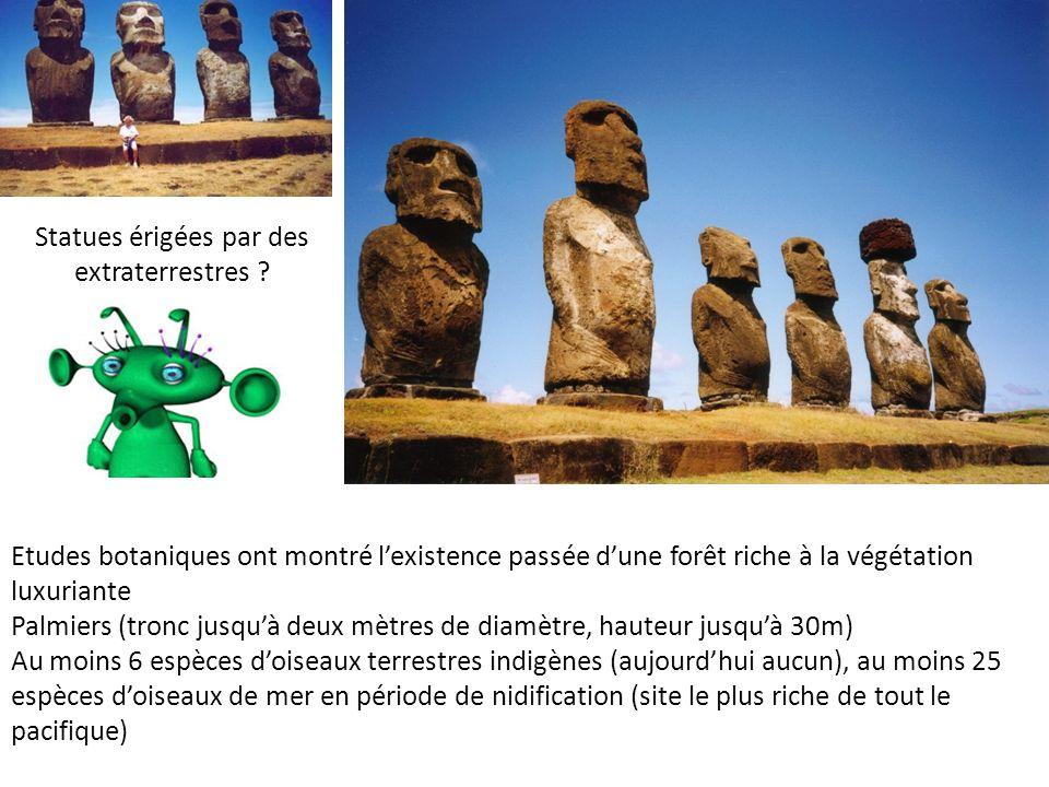 Statues érigées par des extraterrestres .
