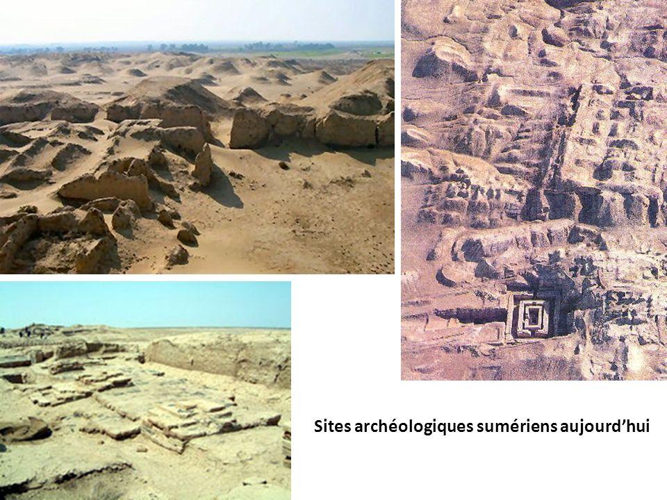 Sites archéologiques sumériens aujourdhui