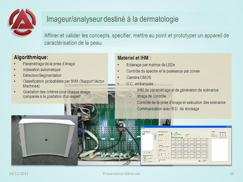 Sécurisation de fraiseuse par caméra vidéo 14/11/2011Présentation Générale25 Optimiser lexploitation de fraiseuses dun bureau de style automobile en s