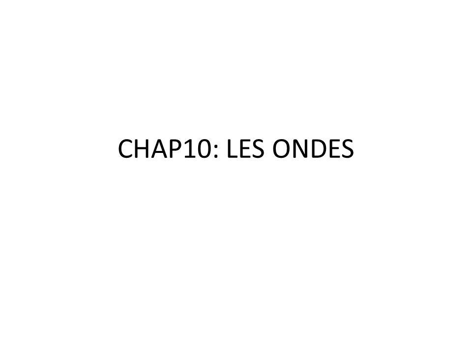 CHAP10: LES ONDES
