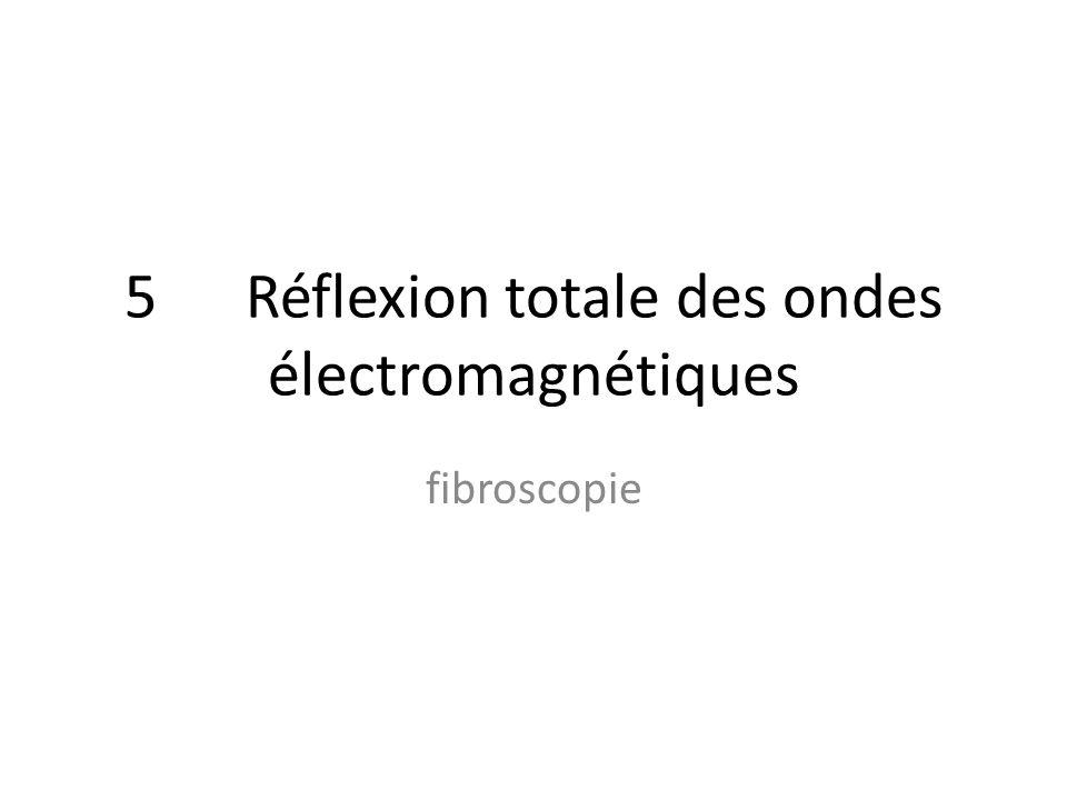 5 Réflexion totale des ondes électromagnétiques fibroscopie