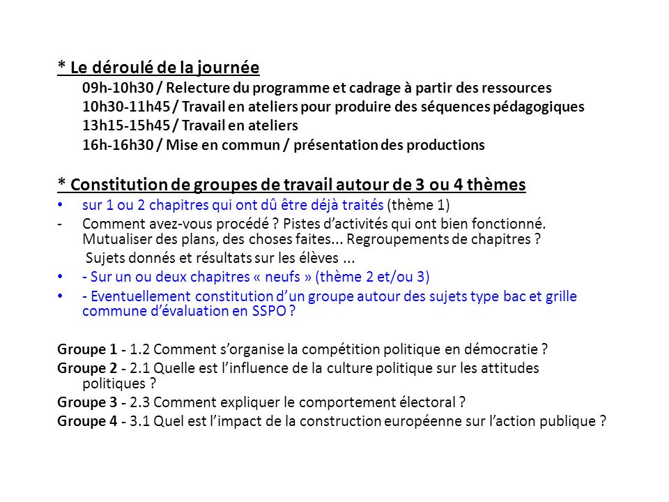 cf.Dossier / prolongements et compléments du programme pp.