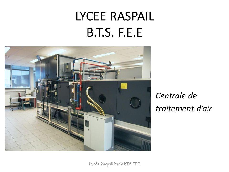 LYCEE RASPAIL B.T.S. F.E.E Centrale de traitement dair Lycée Raspail Paris BTS FEE