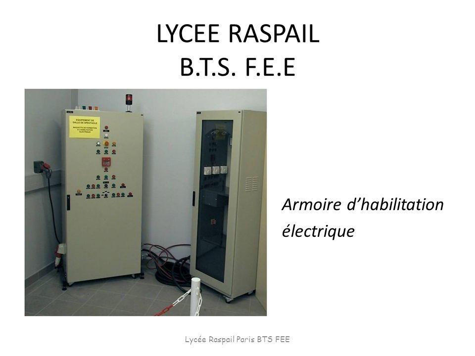 LYCEE RASPAIL B.T.S. F.E.E Armoire dhabilitation électrique Lycée Raspail Paris BTS FEE